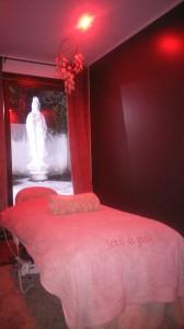 cabine massage avec Bouddha